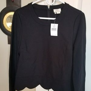 Kate Spade Cropped Scallop Top